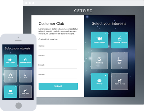 Customer club platform